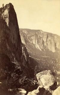 Carleton Watkins, The Sentinel from Union Point, Yosemite, 1880