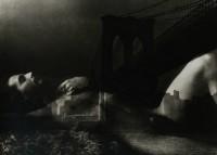 Edmunde Teske, Jeffrey Harris composite with Brooklyn Bridge, 1976