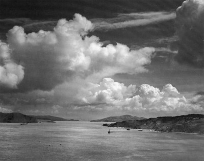 Ansel Adams - Golden Gate Before the Bridge, CA, 1932