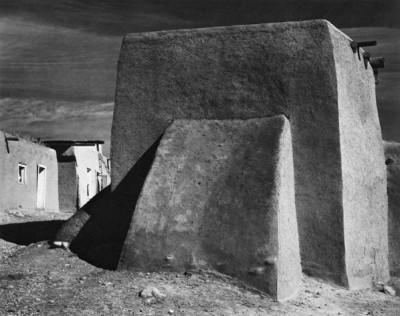 Ansel Adams, Rear of Chuch, Cordova, New Mexico 1938