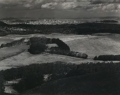 Ansel Adams, San Francisco From Television Park, San Bruno Mountain, 1945