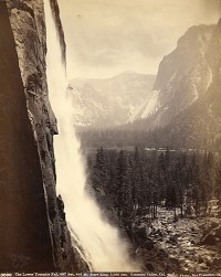 Isaiah W. Taber, The Lower Yosemite Fall, 487 Feet And Mt. Starr King, 5,080 Feet, 1880's
