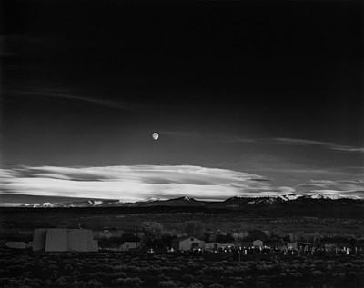 Ansel Adams, Moonrise Over Hernandez, New Mexico 1941