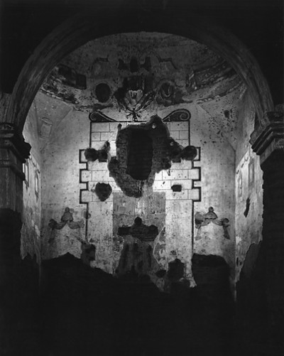 Ansel Adams, Interior of Tumacacori Mission, Arizona 1952
