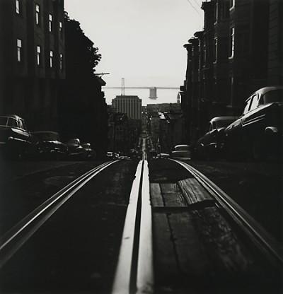 Ruth Bernhard, Cable Car Tracks, California Street, San Francisco, 1956