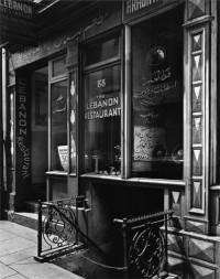 Berenice Abbott, The Lebanon Restaurant, 88 Washington Street, Manhattan