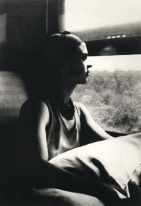 Frida on the Train, on route to Mexico, 1932