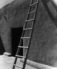 Todd Webb, Ladder and Adobe Wall, O'Keeffe's Abiquiu House 1957