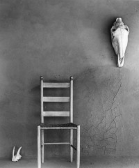 Todd Webb, On the Portal, O'Keeffe's Ghost Ranch House, New Mexico 1959