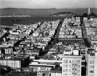 Brett Weston, From Russian Hill Looking East To Coit Tower, San Francisco, 1940
