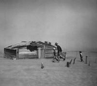 Arthur Rothstein, Fleeing Dust Storm, Cimarron County, Oklahoma, 193