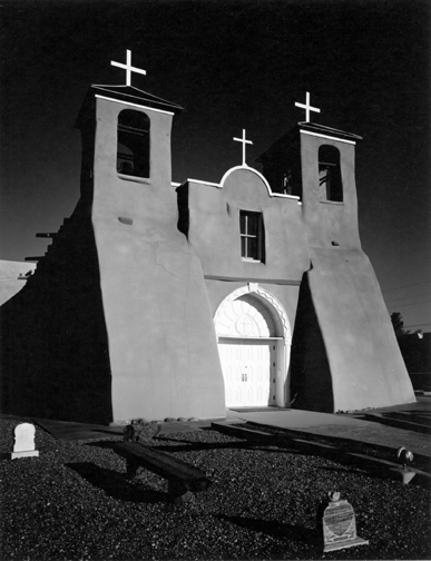 Morley Baer, Mission Church, Rancho de Taos, New Mexico 1973