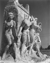 Monument on Wilshire Blvd. 1936