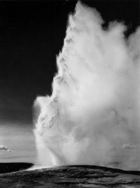 Ansel Adams, Old Faithful, Yellowstone National Park, 1942