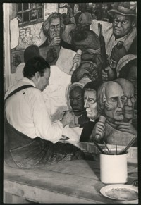 Diego Rivera Painting at New Worker's School, New York, 1933
