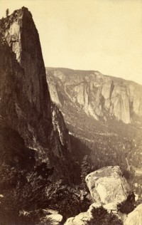 Carleton Watkins, The Sentinel from Union Point, Yosemite, 1880