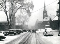 Marion Post Wolcott, Main Street after Snowstorm. Brattleboro, Vermont, 1940