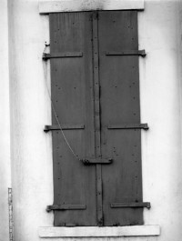 Minor White, Steel Doors, San Francisco, 1949