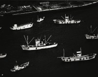 Brett Weston, Untitled (Boats in the Harbor). Japan, 1970