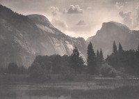 William E. Dassonville, Half Dome And North Dome, Yosemite Valley, circa 1905