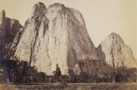 Carleton Watkins, Cathedral Rock, 2600, Yosemite, circa 1867