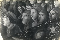 May Day on Red Square, Detail of Right Hand Section of Diego Rivera's Fresco in Rockefeller Center Before Destruction, May 1933