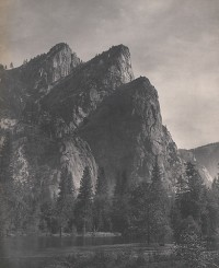 William E. Dassonville, Three Brothers, Yosemite Valley, circa 1905