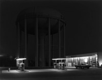 George Tice, Petit's Mobil Station, Cherry Hill, NJ, 1974