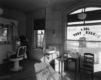 George Tice, Joe's Barber Shop, Paterson, NJ, 1970