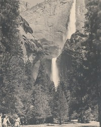 Ansel Adams, Upper and Lower Yosemite Falls, Summer, circa 1939