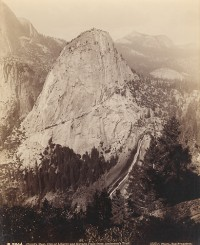 Isaiah W. Taber, Cloud's Rest, Cap of Liberty and Nevada Falls from Anderson's Trail, circa 1880