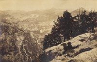 Carleton Watkins, The Vernal And Nevada Falls From Glacier Point, Yosemite, Circa 1867