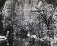 Ansel Adams, Merced River, Cliffs Autumn, Yosemite Valley, 1939