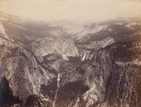 Isaiah W. Taber, Vernal & Nevada Falls from Washburn Point, Yosemite Valley, California, 1887