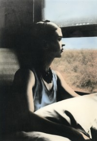 Frida on the Train on Route to Mexico, 1937