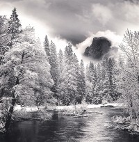 Rolfe Horn, Half Dome And Merced River, Yosemite, California, 1998