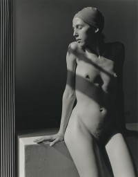 Marsha Burns, Untitled Nude (woman in bathing cap), 1978