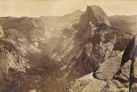 Carleton Watkins, Half Dome From Glacier Point, c. 1867