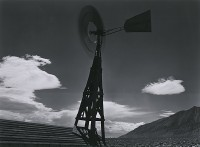 Ansel Adams, Aeromotor Windmill Spinning, Owens, Valley Near Independence, 1935