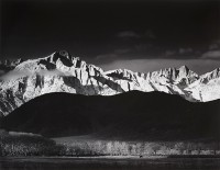 Ansel Adams, Sierra Nevada From Lone Pine, California, 1944