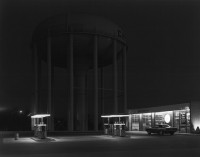 George Tice - Petit's Mobil Station, Cherry Hill, NJ, 1974