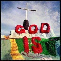 Michael Rauner, God Is, Salvation Mountain, Slab City, 2005