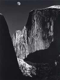 Ansel Adams, Moon and Half Dome, Yosemite National Park, California, 1960