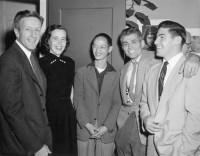 Bill Hiecks, Jeanne Hiecks, Benjamen Chinn, John Bertolino, Paul Caponigro at Ansel Adams studio, October 24th 1953