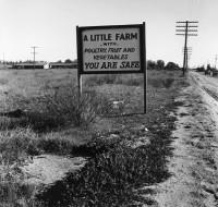 Dorothea Lange - Real Estate Sign, Riverside County, CA, March 1937