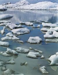 Ice in Glacial Lake, Fjnllsarlon South Coast, 1972