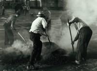 Horace Bristol - Men Repairing Street, San Francisco, 1933