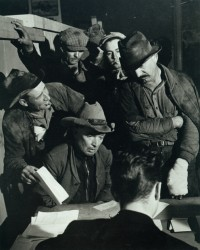 Applying for Relief, from the Grapes of Wrath, 1938