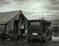 Car and Tent with Stove, from the Grapes of Wrath, 1938