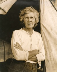 Migrant Woman in Front of Tent, from the Grapes of Wrath, 1938
